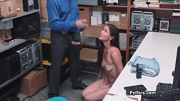 MILF meets the security guards horny cock