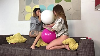 Latex balloons last - Looning looners brand new latina mistress pearl and the lovely nikki rockwell amazing girl girl in non popping all out fun action