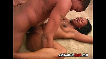 Black beauty enjoys having sex on the floor