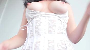 Tily McReese White lingerie for Magnet Video Portland