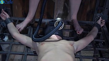 Femdom wearing mask free thumbs One perverted couple tortures restrained bitch in gas muzzle elise graves hard - mobile sex