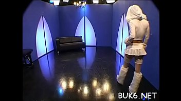 Cute maid is coercive to entertain several concupiscent male rods