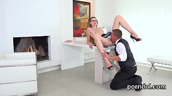Fervent college girl is tempted and pounded by aged schoolteacher