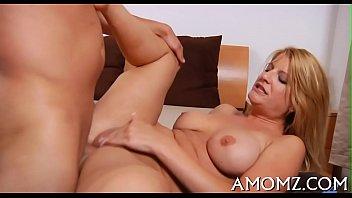 Mama shows off licking skills