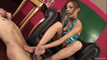 Used asian dresses Yui loves using her oil and her feet to make this guy cum hard
