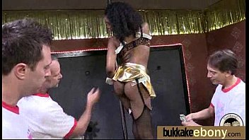 Naughty black wife gang banged by white friends 7