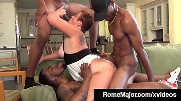 Chicks sucking small dicks video Phat milf scarlette is plump pussy pounded by 3 black cocks