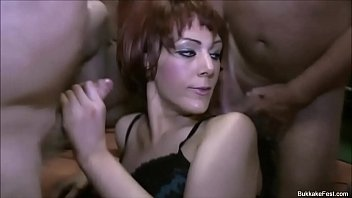 Two Hot Milf Slut Bukkake Gangbang