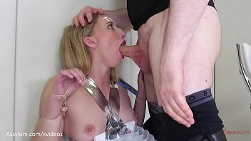 Bdsm humiliation play Hot blond pawg bound with office supplies, face fucked, and suffocated riley reyes