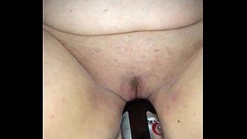 Beer bottle fucking