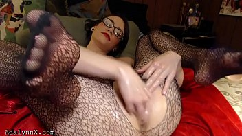 Adult bodystocking Adalynnx - fisty comes homes after graduation