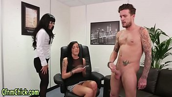 Cfnm mistress spunked