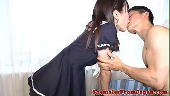 Shemale ladyboy areeya - Cosplay ladyboy sucking cock before analsex