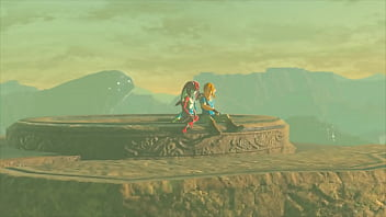 link and mipha legend of zelda breathe of the wild done by sableserviette
