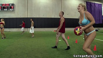 Young Teens Play Strip Dodgeball on College Rules (cr12385)