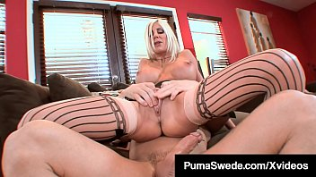 Busty Blonde Bombshell Puma Swede Pussy Pounded By Big Cock!