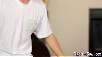 Foolish masseuse spermed