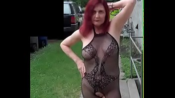 Lingerie background - Redhot redhead show 7-12-2017 part 3 public nudity