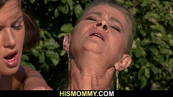 Once he had gone she fucks his old mom