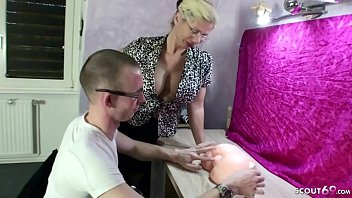 GERMAN STEP MOTHER TEACH VIRGIN SON TO FUCK AND LET CREAMPIE