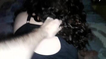 Curly girl gets it hard from behind