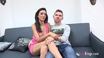 A hot gipsy beauty called Cindy lets her dummy boyfriend fuck her in every position
