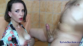 Baby sitting cock sucker Sylvia chrystall majestic japanese handjob and titty fuck