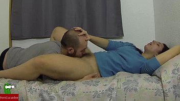 Couple lie down on the bed and masturbate and fuck IV018