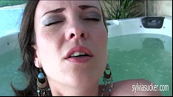 Cute Hot Teen Milf Solo Masturbation Near the Jacuzzi. Sylvia Chrystall