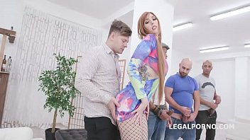 Hot redhead trailer Dirty talking, lauren phillips 4on1 with big dicks, balls deep anal, gapes, dap, creampie and swallow gio1271