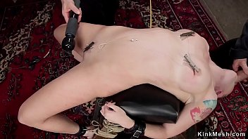 Redhead in back arch bdsm fucked