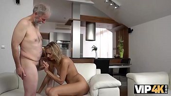 VIP4K. Mesmerizing petite model Jenny Smart fucked by old man