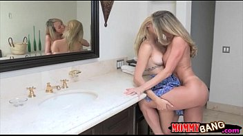 Teen beauty Lia Lor sharing cock with stepmom Brandi Love