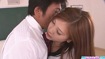Horny asian schoolgirl blowjob and fucking preview image