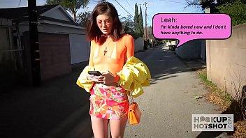 Cute teen slut Leah Winters has a nasty rough hookup online