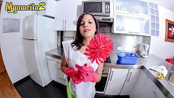 MAMACITAZ  Dirty Latina Maid Daniela Robles Wants To Fuck Her Client