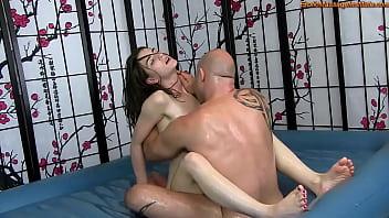 Sensual Oil Body Massage with Fucking