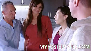 New foster mother Becky Bandini cannot wait to welcome her foster daughter, Judy Jolie, to her home - FULL SCENE on http://MyFosterTapes.com