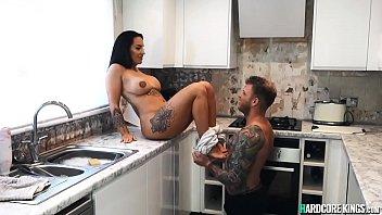 Tattooed bf fucks huge tits girlfriend