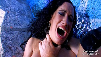 Dark haired whore sodomized n jizzed by a french guy outdoor