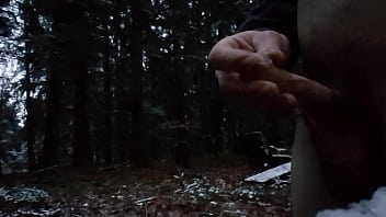 Boy piss in the Forest