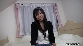Japanese teen brunette, Karin Asahi got doublefucked all day, uncensored