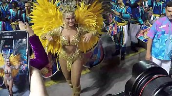 Ellen Rocche parading in the carnival special group
