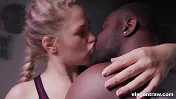 Quality free black nude babe video - Norwegian teen is horny and craves anal with a black dick