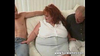 Plumper big pussy - Huge bbw redhead takes on three massive cocks