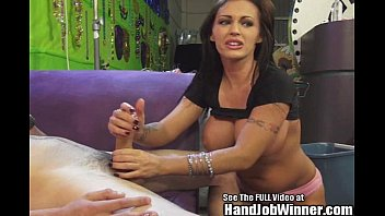 Nice hand job almost torture - Jenna presley gives handjob to fan