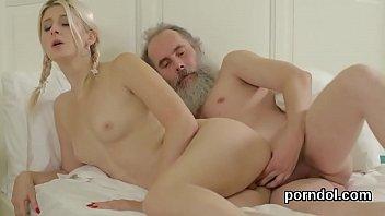 Erotic schoolgirl is seduced and penetrated by elder lecturer
