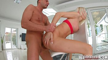 Image: Allinternal blonde rides dick and is filled with spunk