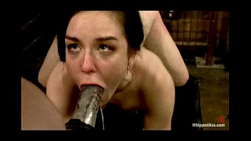 Destroyed and fucked in tough lesbian suspension bondage
