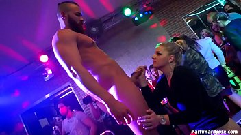 Amateur whore Nikča from previous party returns as a pro to let another 3 strippers nail her cunt in PHGC 34